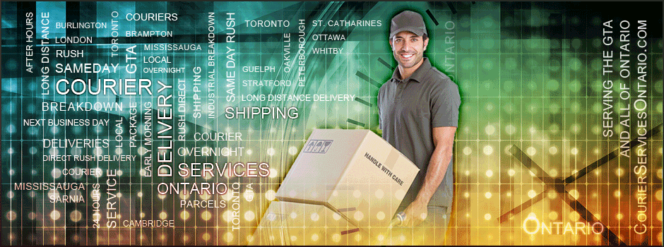 Courier Services GTA: After hour delivery, Serving the greater Toronto area and throughout Ontario Canada.