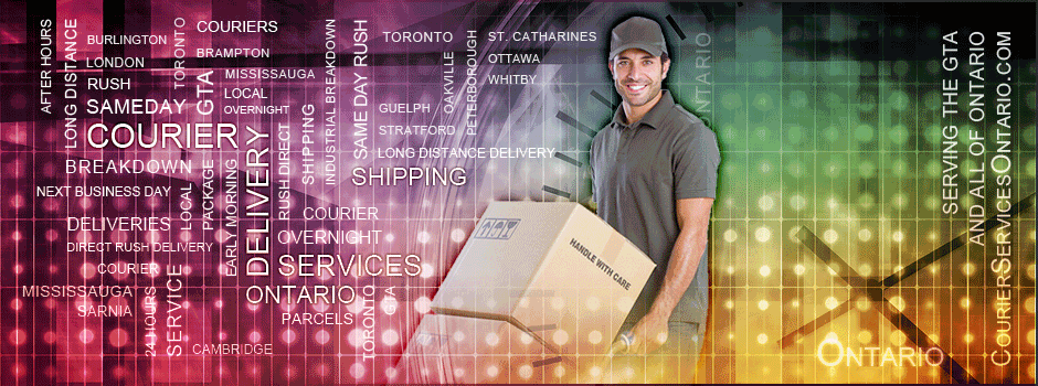 Courier GTA: Rush delivery & Direct delivery, Serving the greater Toronto and Surrounding areas.
